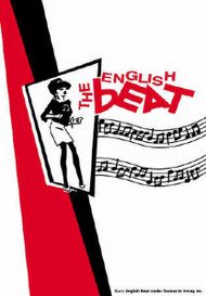 English Beat Poster Flag Ska Girl Logo Tapestry