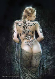 Luis Royo Poster Flag Tattoo Veil Tapestry