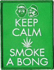 Cheech And Chong Iron-On Patch Keep Calm Logo