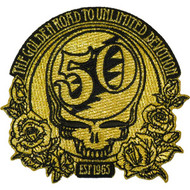 Grateful Dead Iron-On Patch 50th Anniversary Golden Road Logo