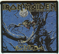 Iron Maiden Iron-On Patch Fear Of The Dark Logo