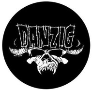 Danzig Sew On Canvas Back Patch Round Skull Logo