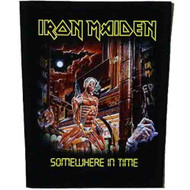 Iron Maiden Sew On Canvas Back Patch Somewhere In Time Logo
