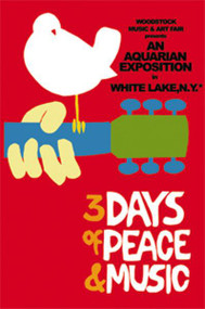 Woodstock Magnet Dove Guitar Peace Music Logo