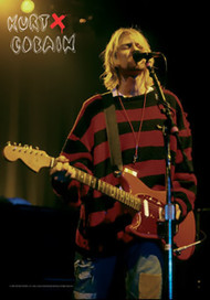 Kurt Cobain Poster Flag Stage Photo Tapestry