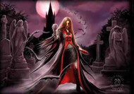 Anne Stokes Poster Flag Blood Moon Tapestry