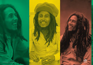 Bob Marley Poster Flag Rasta Collage Tapestry