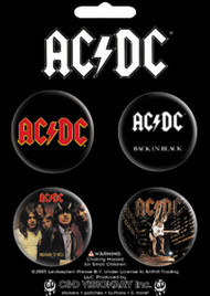 AC/DC Four Button Pin Set
