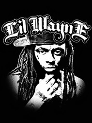 Lil Wayne Poster Flag BW Portrait Tapestry
