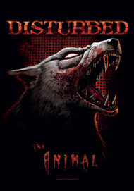 Disturbed Poster Flag The Animal Wolf Tapestry