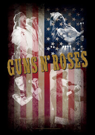 Guns n' Roses Poster Flag American Collage Tapestry
