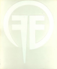 Fear Factory Vinyl Cut Sticker White FF Logo