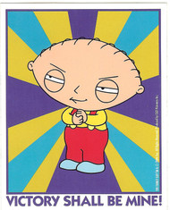 Family Guy Vinyl Sticker Stewie Victory Shall Be Mine