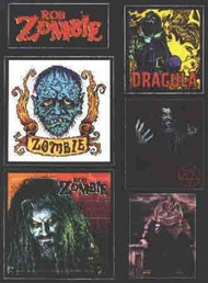 Rob Zombie Vinyl Sticker Set Six Stickers