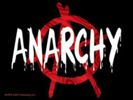 Anarchy Vinyl Sticker Letters Logo