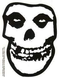 Misfits Vinyl Sticker White Skull Logo Clear Decal