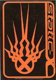 Static-X Vinyl Sticker Orange Logo
