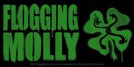 Flogging Molly Vinyl Sticker Green Shamrock Logo