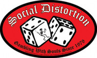 Social Distortion Vinyl Sticker Oval Dice Logo
