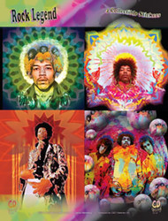 Jimi Hendrix Sticker Set 4 Stickers