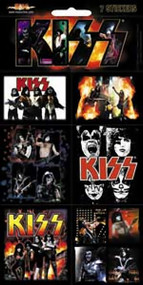 Kiss Sticker Set 7 Mini Stickers