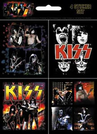 Kiss Sticker Set 4 Mini Photo Stickers