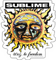 Sublime Vinyl Sticker 40 Oz To Freedom Sun Logo