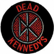 Dead Kennedys Iron-On Patch Round DK Brick Logo