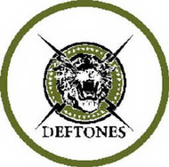 Deftones Iron-On Patch Round Tiger Logo