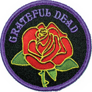 Grateful Dead Iron-On Patch Round Rose Logo
