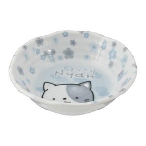 """Blue Nyah Cute Cat Face Bowl 5.25""""D"""