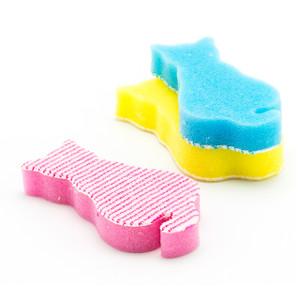 Cat Shape Kitchen Sponge 3pc (Assorted Color)