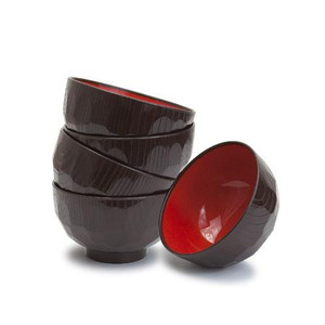 Kikkou Lacquer Miso Soup Bowl (5 pcs set)