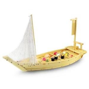 Wooden Sushi Boat w/ Net