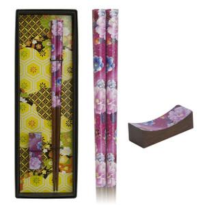 Japanese Botan Chopsticks - Hot Pink