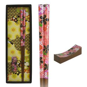 Japanese Sakura Chopsticks -Vermilion