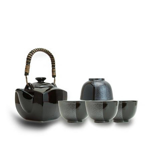 Blue Moon Black Teaset - 5 pcs