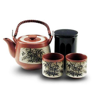 Clay Bamboo Forest Tea Set