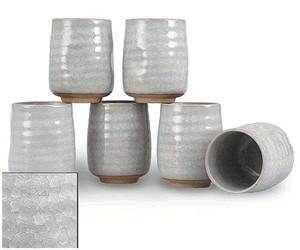 Gray Crackle Teacups (6pcs)