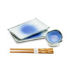 Blue Stain Sushi Plate Set