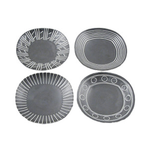 Blackboard Assorted Design Small Plate Set - 4pcs
