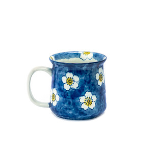 Blue and Yellow Cherry Blossom Mug