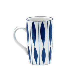 Blue Striped Tall Mug