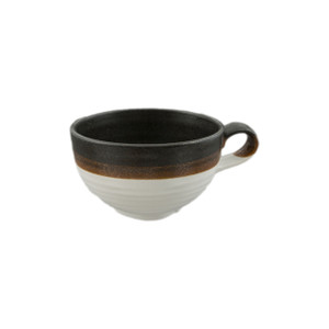 Dark and Light Two-Tone Soup Mug
