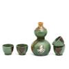 Green and Brown Longevity Sake Set