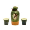 Traditional Green Brown Sake Set