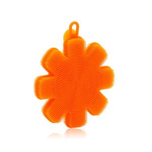 Silicone Dishwash Scrubber - Orange Flower