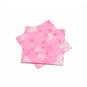 "Lovely Pink Paper Napkins 6.5"" - 10 sheets"