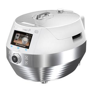 Cuchen IH Pressure Cooker 10 Cup - Silver & White side view