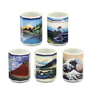 Famous Work of Hokusai Teacup Set